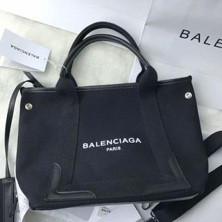 Balenciaga - バレンシアガ ブラック キャンバス トートバッグ
