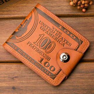 ラウンドファスナー二つ折り 財布 メンズ ダラーマネー オシャレ!安い!(折り財布)