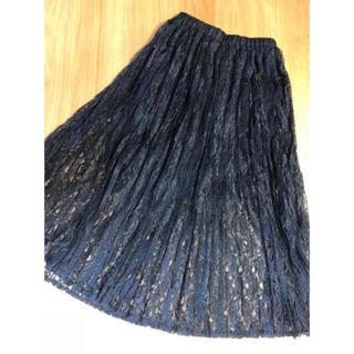 ウィゴー(WEGO)のWEGO ⭐️新品⭐️ 2way レーススカート ブラック レイヤード(ロングスカート)