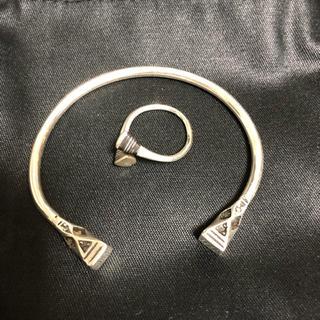 トゥアレグシルバー バングル&リングセット touareg silver