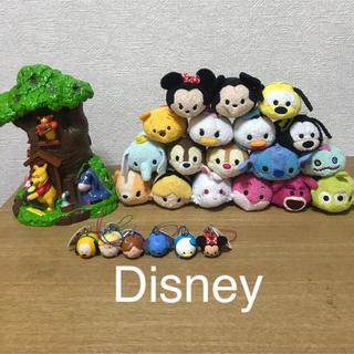 Disney - ディズニーツムツム ぬいぐるみ18体セット➕ストラップ6体➕プーさん貯金箱