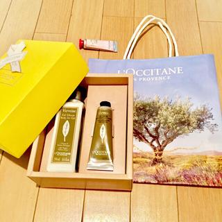 ロクシタン(L'OCCITANE)のロクシタン❤︎ヴァーベナ ボディアイスジェル➕アイスハンドクリーム おまけ付き(ボディローション/ミルク)