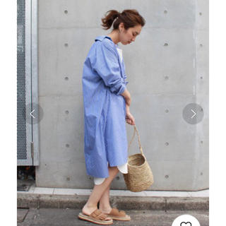 FRAMeWORK - 金子綾×FRAMeWORK Big シャツワンピース