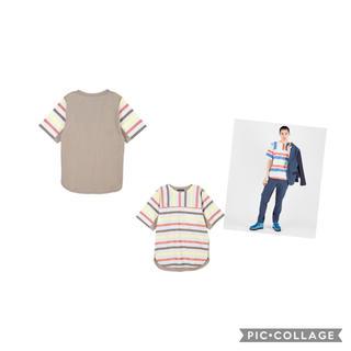 ツモリチサト(TSUMORI CHISATO)の週末限定値引新品 タグ付 ツモリチサト マルチラメストライプ Tシャツ サイズ2(Tシャツ/カットソー(半袖/袖なし))