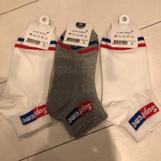 Supreme - 韓国購入 靴下 3足