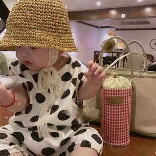 ZARA - キッズ 帽子 麦わら帽子 麦わら帽子 お出かけ 赤ちゃん 春夏 可愛い
