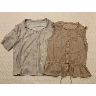 シマムラ(しまむら)の最終セール  ブラウス2点セット しまむら  スウィングル  美品(シャツ/ブラウス(半袖/袖なし))