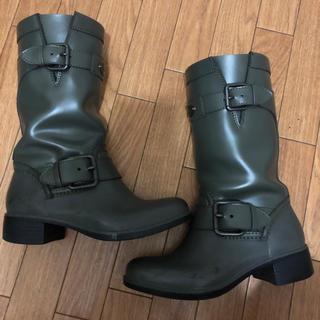 コーチ(COACH)のコーチ レインブーツ ミドル丈 35 22.5 COACH(レインブーツ/長靴)