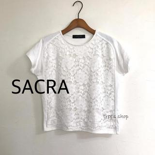 SACRA - SACRA サクラ レースカットソー