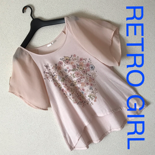 RETRO GIRL - *RETRO GIRL*袖シフォン*シースルー*Tシャツ☺︎