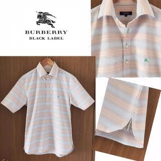 バーバリーブラックレーベル(BURBERRY BLACK LABEL)のBURBERRY BLACK LABEL 半袖シャツ 細ボーダー×チェック(シャツ)