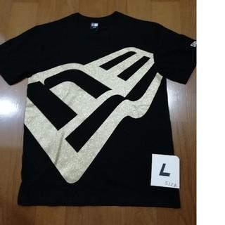 ニューエラー(NEW ERA)のNEW ERA  サイズL 大人気ゴールドビッグロゴT 黒L 未使用タグ付き(Tシャツ/カットソー(半袖/袖なし))