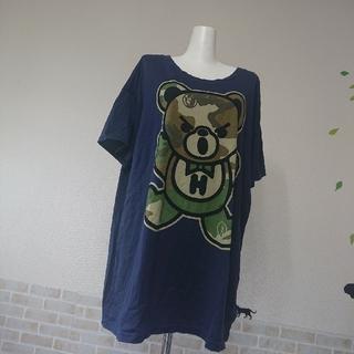 HYSTERIC GLAMOUR - ヒステリックグラマー 人気 カモフラ ファックベア BIG Tシャツ
