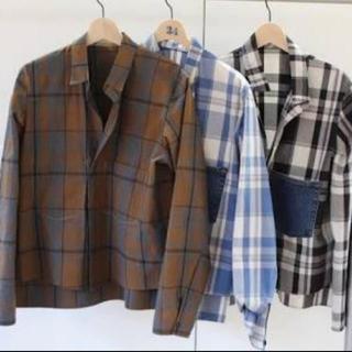 SUNSEA - 【SUNSEA】Reversible Cotton Check Shirt
