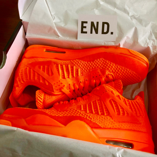 ナイキ(NIKE)のNIKE AIR JORDAN 4 RETRO FLYKNIT ORANGE(スニーカー)