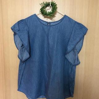 ジーユー(GU)の美品☆*°GU袖フリルブラウス(シャツ/ブラウス(半袖/袖なし))