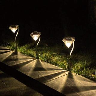送料無料#新品#ガーデンライト ソーラー LED 4本セット ダイヤモンド型