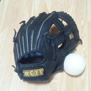 ゼット(ZETT)のZETT デュアルキャッチ ジュニア用グラブ 中古軟式球付(グローブ)