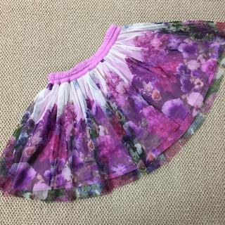 KP - (110㎝)■ケーピー/KP■ピンク転写レーススカート