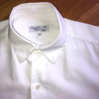 アニエスベー(agnes b.)のアニエス・ベー 白シャツ(Tシャツ(長袖/七分))