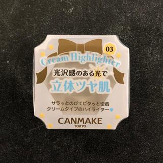CANMAKE - ★新品未使用★井田ラボ CANMAKE クリームハイライター03 ルミナススノウ