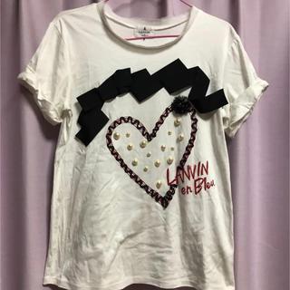 ランバンオンブルー(LANVIN en Bleu)の【LANVIN en Bleu】デザインTシャツ(Tシャツ(半袖/袖なし))