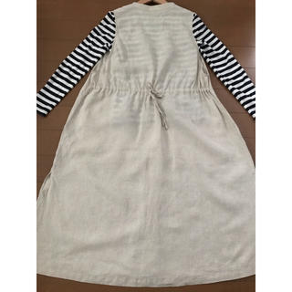 MUJI (無印良品) - 無印良品 リネン 羽織ワンピース