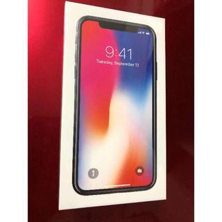 Apple - iPhoneX SIMフリー 新品 スペースグレー