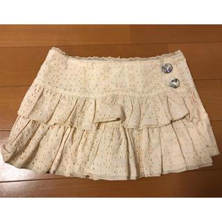 リズリサ(LIZ LISA)のリズリサ  キュロット ミニスカート 花柄 クリーム色 未使用品ダグ付き(キュロット)