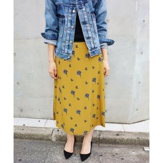 イエナ(IENA)のIENA モチーフ プリント スカート  34(ロングスカート)