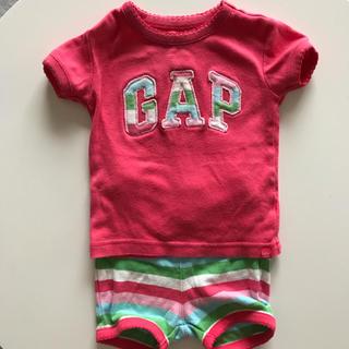 ベビーギャップ(babyGAP)のbabyGap70セットアップ(ロンパース)