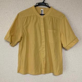 マーガレットハウエル(MARGARET HOWELL)のMHL. エムエイチエル  ノーカラー シャツ 半袖(シャツ/ブラウス(半袖/袖なし))