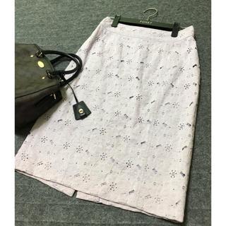 バーバリー(BURBERRY)の美品 バーバリー ロンドン レース スカート(ひざ丈スカート)