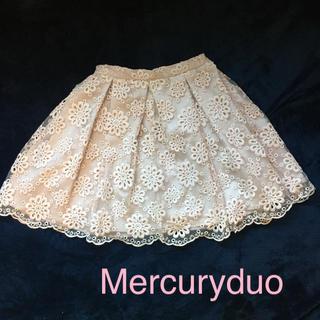 マーキュリーデュオ(MERCURYDUO)のマーキュリーデュオ☆フラワーレーススカート(ミニスカート)