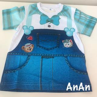 Disney - 香港ディズニーランド☆ダッフィー&ジェラトーニ☆キッズTシャツ