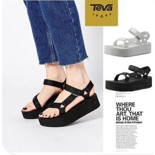 Teva - Teva テバ 厚底サンダル レディース フラットフォーム ユニバーサル US8