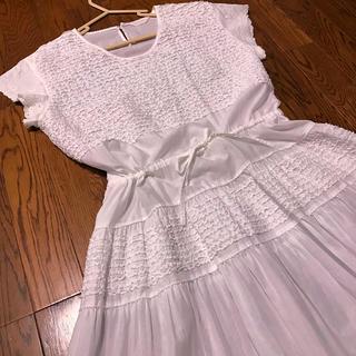 ピンクハウス(PINK HOUSE)のカネコイサオ 裾刺繍ワンピース インナーワンピース セット(ロングワンピース/マキシワンピース)