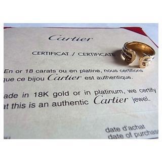 カルティエ(Cartier)のCartierカルティエ2Cリング指輪10号49k18金750証明書トリニティー(リング(指輪))