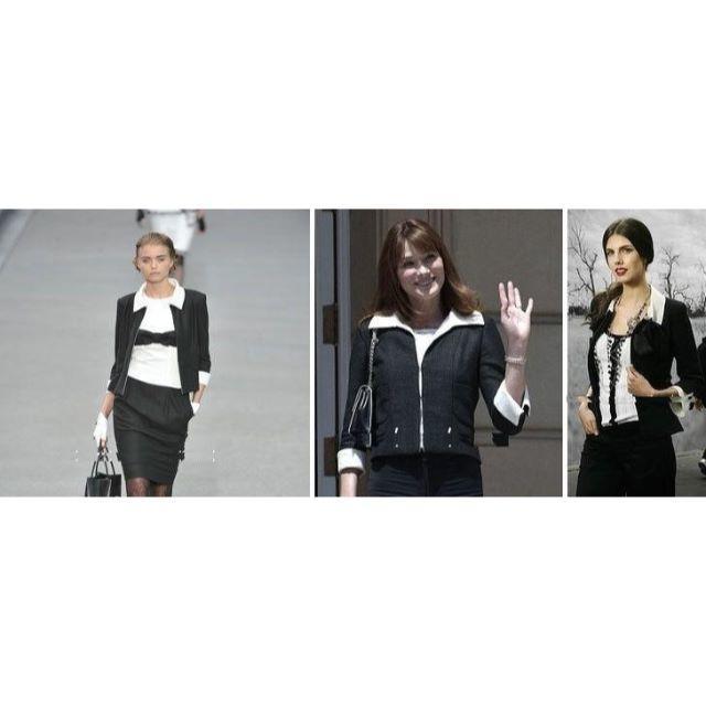 CHANEL(シャネル)のCHANEL シャネル ブラック・ホワイト・リボンワンピース & ジャケット♪ レディースのジャケット/アウター(テーラードジャケット)の商品写真