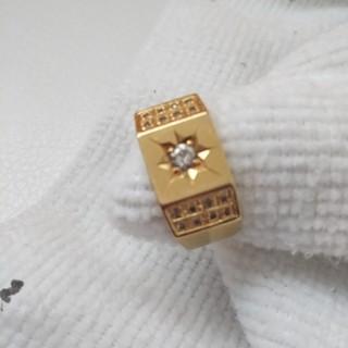 18kダイヤ 、メンズ指輪16号(リング(指輪))