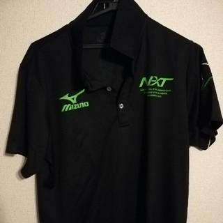 ミズノ(MIZUNO)のミズノ ポロシャツ サイズ2XL ブラック グリーン(ウェア)