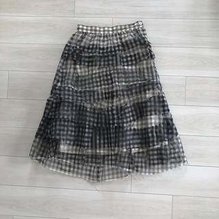 COMME des GARCONS - トリココムデギャルソン  チェック ティアードスカート