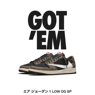 ナイキ(NIKE)の27.5  NIKE AIR JORDAN 1 LOW TRAVIS SCOTT(スニーカー)