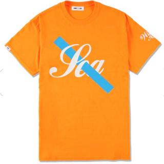 WIND AND SEA SAUTURDAYS NYC Tシャツ M オレンジ