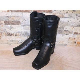 フライ(FRYE)の超美品 フライ エンジニアブーツ Harness 黒 23cm(ブーツ)