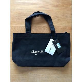 agnes b. - アニエスベー ミニトートバッグ agnes b. キャンバス 黒 ブラック