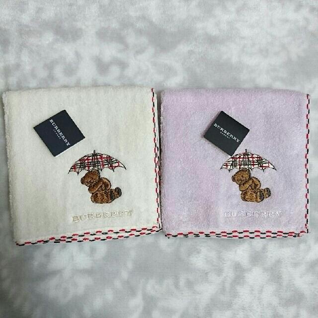BURBERRY(バーバリー)のバーバリー タオルハンカチ くま 刺繍 レディースのファッション小物(ハンカチ)の商品写真