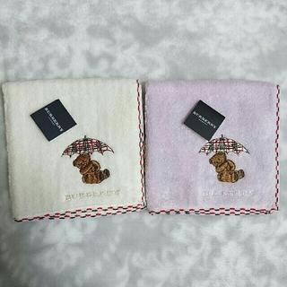 BURBERRY - バーバリー タオルハンカチ くま 刺繍