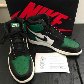 ナイキ(NIKE)のNIKE AIR Jordan1 pine green パイングリーン(スニーカー)
