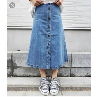 GU - デニムスカート ロングスカート